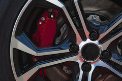 Red brake and alloy Royalty Free Stock Photos