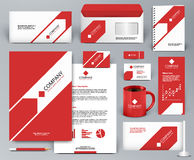 Red branding design kit with arrow Royalty Free Stock Photos