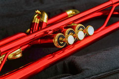 Red brass trumpet Stock Photography