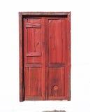 Red braun Canarian wooden door Stock Photos