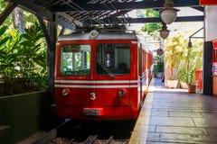 Red Brazilian Train Best Jungle, Tijuca Rio de Janeiro stock photography
