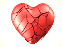 Red breaked heart Stock Photo