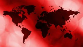 Red breaking news intro, world map motion background. Breaking tv news world map intro concept, abstract background stock video