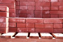 Red brick. Stock Photos