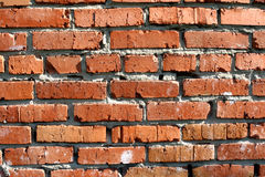 Red brick. Wall as background Royalty Free Stock Photo