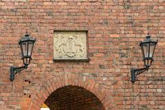 Red brick ancient fortress wall, Riga, Latvia Stock Photography