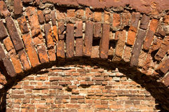 Red brick arch Royalty Free Stock Image