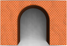 Red Brick Archway Stock Image