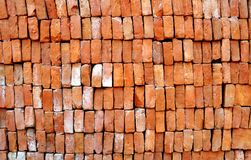 Red Brick. Arranged Red Brick for building wall royalty free stock image