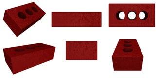 Red Brick Assortment Stock Photos
