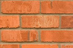 Red Brick Background. Red brick wall as a background Stock Images