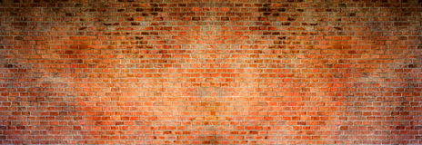 Red brick background. High resolution panorama Stock Image