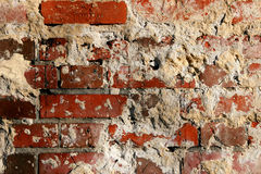 Red brick background. Old red brick wall background Stock Photo