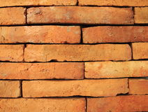 The red brick. Background of red brick wall pattern texture Stock Images