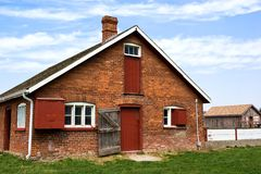 Red brick barn Stock Photography