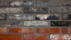 Red brick, black brick, coarse texture. stock images