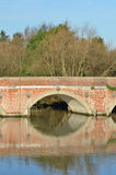 Red brick bridge arch Royalty Free Stock Image