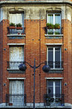 red brick buiding in Paris 13th district Stock Photos