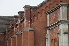 Red brick building. A zoom in part of a red brick building Stock Photography