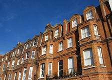 Red brick building. A typical London red-brick building at West-London stock photos