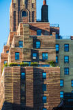 Red brick building in central New York blue sky architecture stock photo
