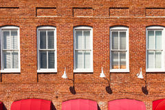 Red Brick Building Facade Stock Photos