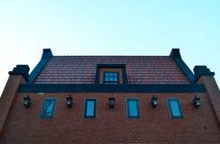 Red brick building facade Royalty Free Stock Image