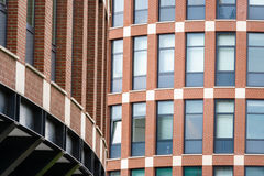 Red brick building facade Royalty Free Stock Images