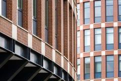 Red brick building facade Royalty Free Stock Photo