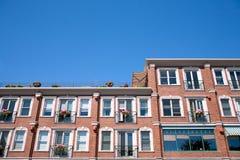 Red brick building facade Stock Image