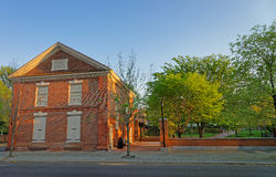Red brick building in the Old City in Philadelphia Stock Images