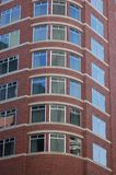 Red Brick Building, Portland, Oregon. This is a red brick building with rounded corner  in downtown Portland, Oregon Royalty Free Stock Photography