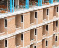 A Red-Brick Building Under Construction Royalty Free Stock Photos