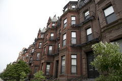 Red brick buildings in  Boston Mass Royalty Free Stock Images