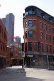 Red brick buildings in North End Royalty Free Stock Photos