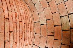 Red brick burned. Stock Image