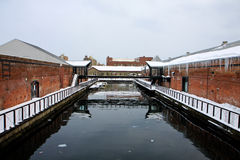 Red brick canal Stock Image