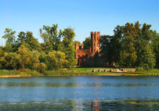 Red brick castle Royalty Free Stock Images