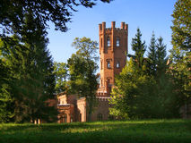 Red brick castle Royalty Free Stock Photo