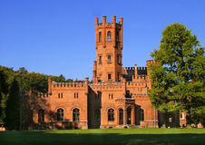 Red brick castle Royalty Free Stock Image