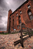 Red brick castle Royalty Free Stock Photos