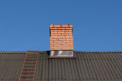 Red brick chimney Royalty Free Stock Photography