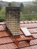 Red brick chimney Stock Photography