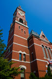 Red brick church Royalty Free Stock Images