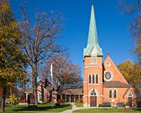 Red Brick Church Stock Image