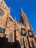 Red brick church and blue sky in Osijek Croatia Royalty Free Stock Photos