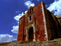 Red brick church in Mexico. stock photography