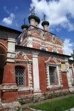 Red brick church in Ostashkov Royalty Free Stock Photos