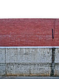 Red brick and concrete wall Royalty Free Stock Image