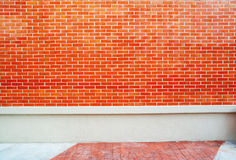 Red brick and concrete wall texture Stock Photos